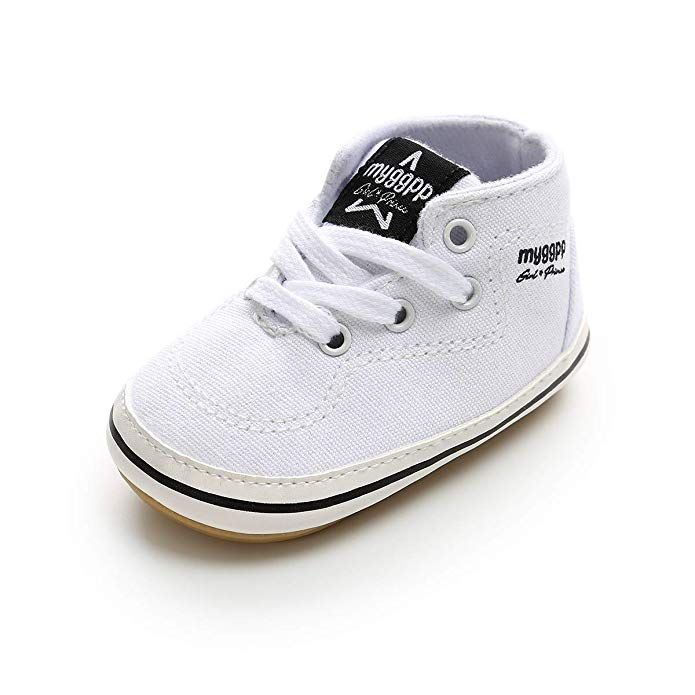 fb5ea4b0ef87c4 BENHERO Baby Boys Girls Canvas Toddler Sneaker Anti-Slip First Walkers  Candy Shoes 0-24 Months 12 Colors (11cm(0-6months)