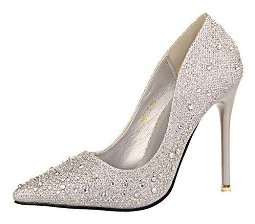 Oferta: 19.93€. Comprar Ofertas de Minetom Mujer Primavera Dulce Boda Zapatos de Tacón Elegante Brillante Rhinestone Zapatos Tacón Alto Zapatos Pumps Stiletto P barato. ¡Mira las ofertas!