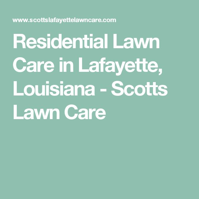 Residential Lawn Care in Lafayette, Louisiana - Scotts Lawn Care