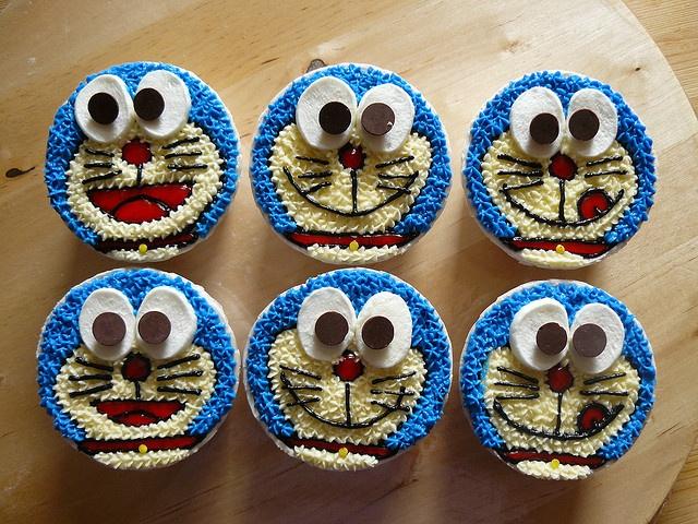 Doraemon cupcakes!