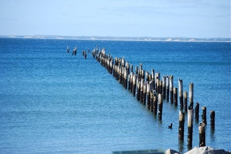 Coastal town Bridport's iconic Old Pier. Cheers to reader Bec. | Rain, Hail or Shine