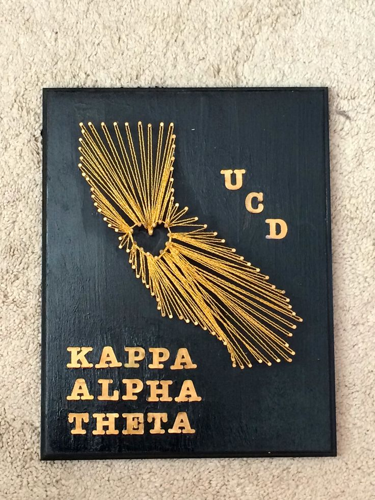 Kappa Alpha Theta. craft life. tlam. cali love. UCD