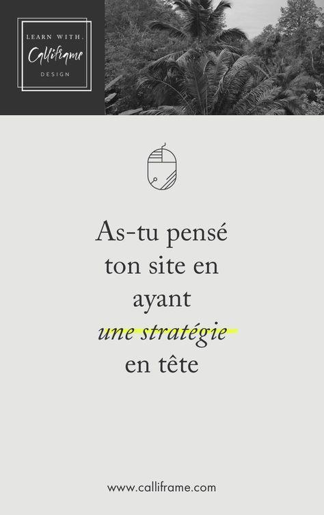 Un site sans stratégie est comme une bataille perdue d'avance. via @calliframe