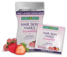 Possible FREE Nature's Bounty Hair, Skin & Nails Gummies!