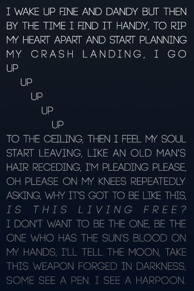 """Ode to Sleep"" Twenty One Pilots  Such a great opening song/lyrics for Vessel"