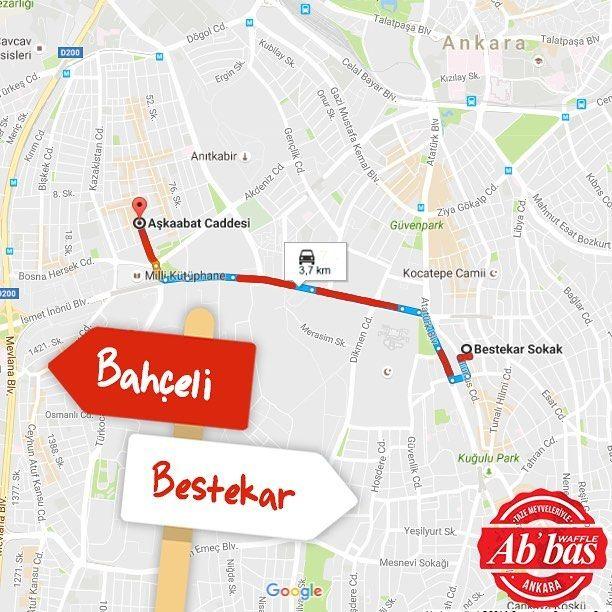 Bahçeli ve Bestekar arasındaki yoğun trafiğin sebebi olduğumuza dair ciddi iddialar var. #AbbasWaffleAnkara