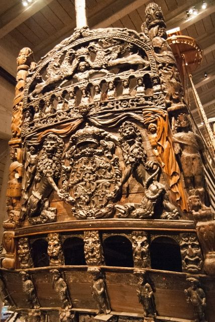 A remarkably preserved 17th century ship, which capsized shortly after his launching, providing an exceptional time-capsule. Vasa Museum, Stockholm. A must in maritime culture