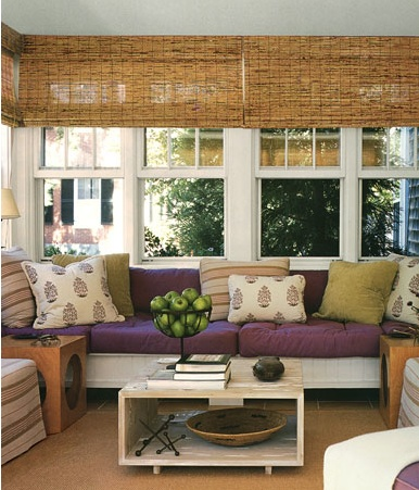 Window Treatment And Color Options For The Sunroom