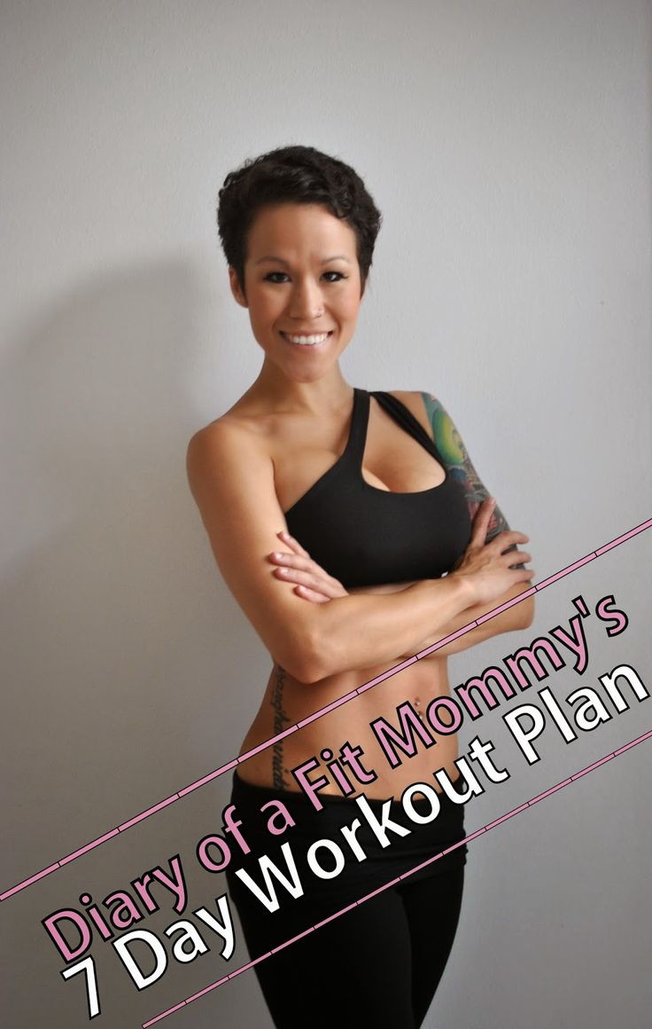 Features a one week workout plan-no equipment or gym needed! Great for beginners!