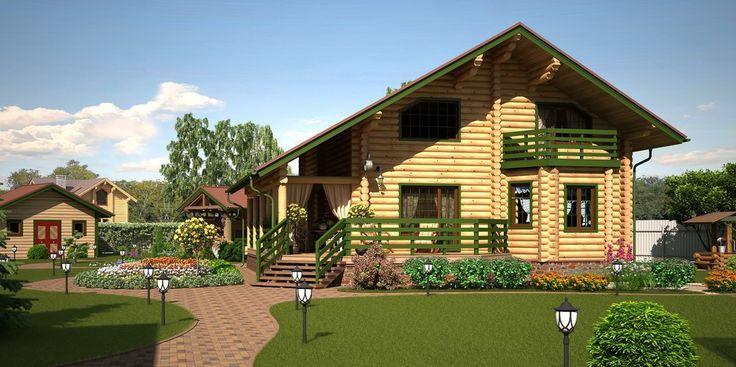Солнечное утро - Загородный дом. Интеграция в реальный ландшафт | PINWIN…