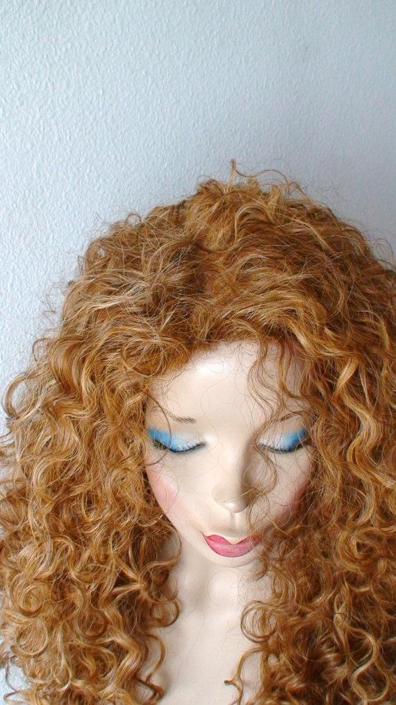 Golden blonde /honey blonde ombre wig  Long curly wig by kekeshop, $98.80