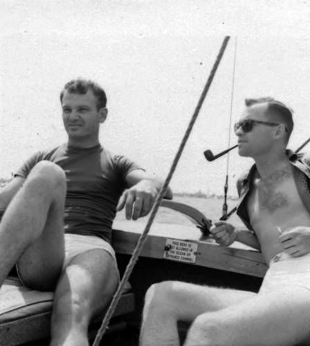 Hal Rebarich and John Quitman Lynch sailing :: ONE National Gay and Lesbian Archives