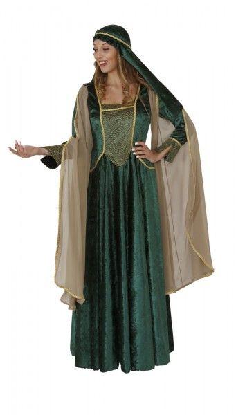 Mittelalter Kleid grün, Burgfräulein Kostüm Tunika