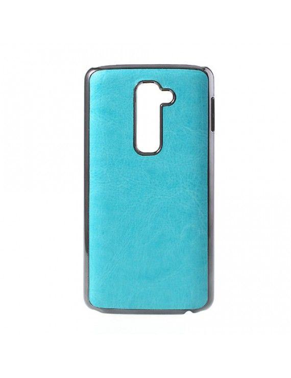 Σκληρή Θήκη με Επένδυση Δέρματος για LG Optimus G2 D801 D802 - Μπλε