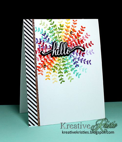 Hello World, Yay Stripes and Lovely Flowers stamps