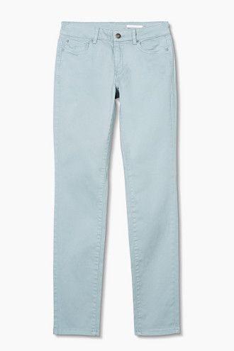 Esprit EDC / 5-pockets van katoen-stretch jeans broek licht blauw spijkerbroek jeans pants light pastel blue