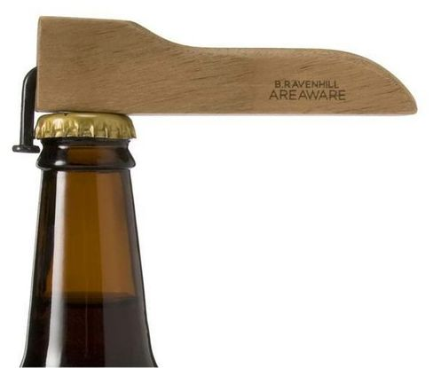 DIY Idea: Simple Scrap Wood and Bent Nail Bottle Opener: Clever & easy-- great combo
