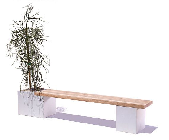 Superior Concrete / Wood Planter Bench By TaoConcrete On Etsy Pictures Gallery