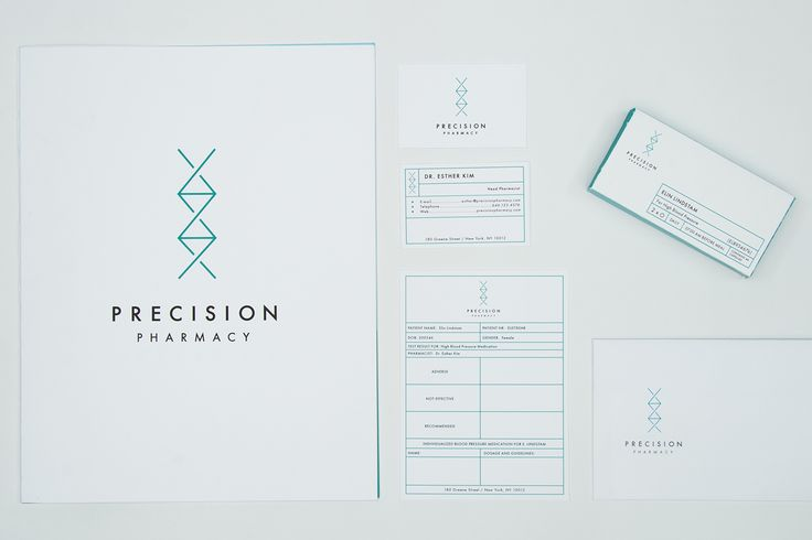 'Precision Pharmacy' / DNA, ADN, logo, identidad gráfica