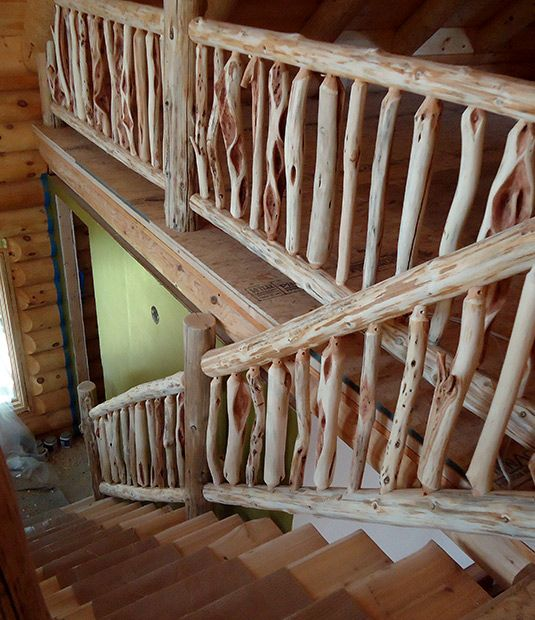 Best 8 Best Rustic Stairs And Railings Images On Pinterest Rustic Stairs Log Cabin Homes And Log Homes 400 x 300