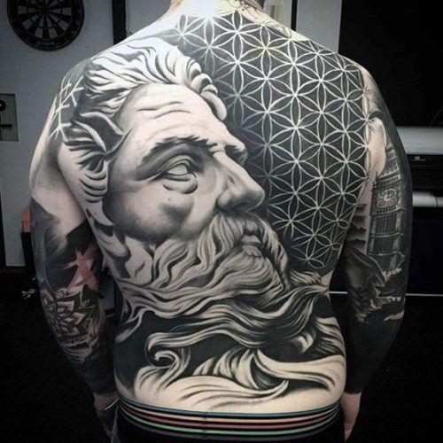 Back Tattoos For Men - Zeus