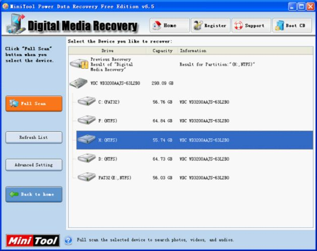 User can perfectly perform memory stick photo recovery with the powerful data recovery software - MiniTool Power Data Recovery.