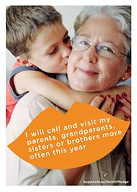 I will call and visit my parents, grandparents, sisters or brothers more often this year @BupaAustralia #health #pledge #family #love