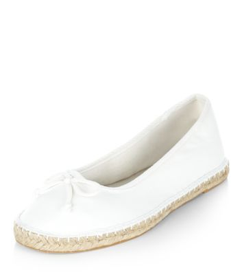 White Ballet Espadrille Pumps
