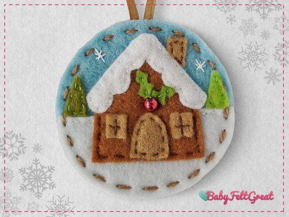 Felt Christmas Ornaments Pattern Blue Felt Christmas Ornaments