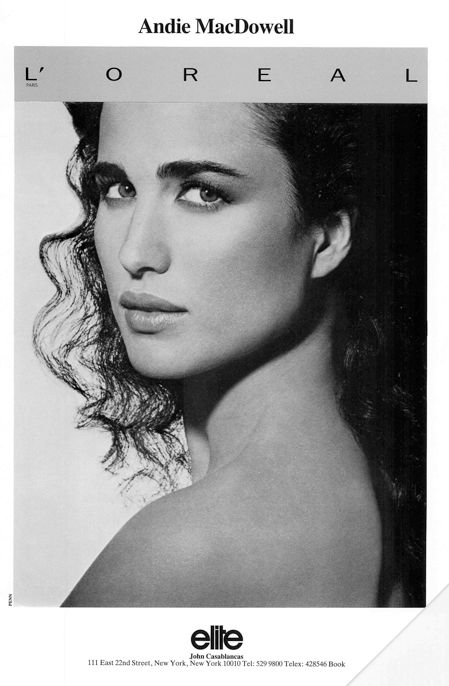 Andie MacDowellEntertainment Central, Icons Supermodels, Strong Women, Dreams Harem, Andy Macdowell, Lorèal Ads, Add 1980 S 1990 S, Beautiful Human, Favorite People