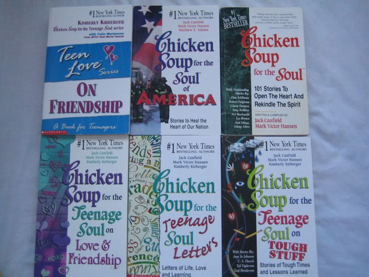 My mom bought me a bunch of Chicken Soup for the soul books when I was about ten years old. These books honestly changed my life. Some of the stories in these are so sad and heartbreaking they really touch your heart.