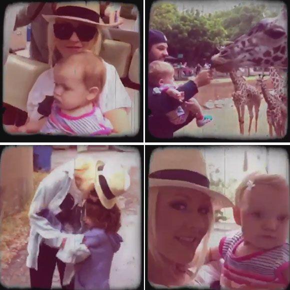 Christina Aguilera au zoo avec ses enfants   HollywoodPQ.com