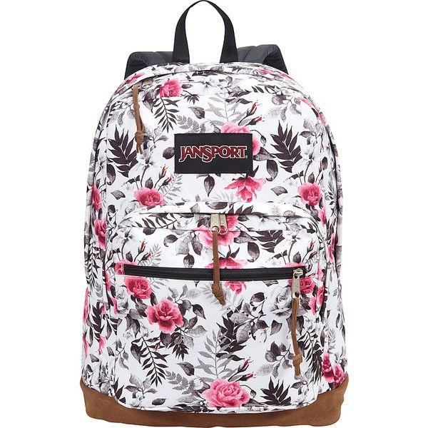 Jansport Right Pack Laptop Backpack ($64) ❤ liked on Polyvore featuring bags, backpacks, white, jansport daypack, pocket bag, jansport rucksack, white laptop bag and jansport backpack