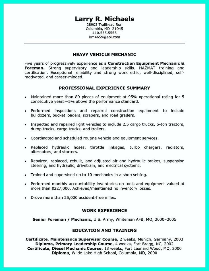 awesome Construction Worker Resume Example to Get You Noticed,
