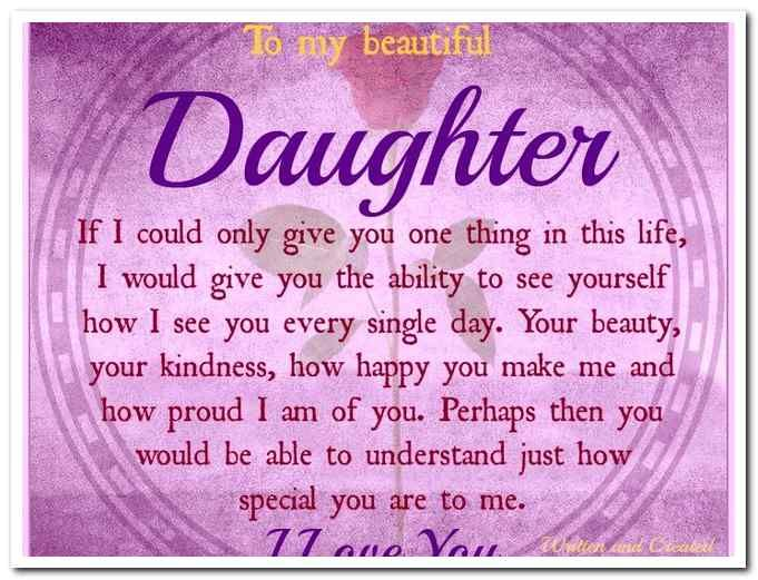 Daughter Quote Inspirational Gift For Daughter Birthday: Happy Birthday To My Beautiful Daughter Images