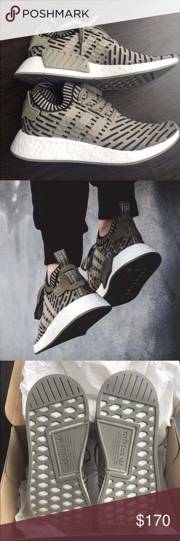 Adidas NMD R2 Olive Black for sale · Slang