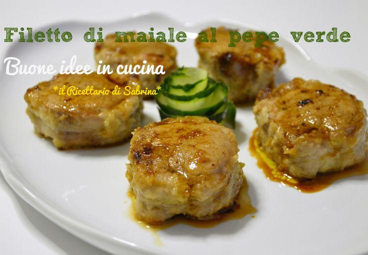 Una ricetta classica, il filetto di maiale al pepe verde con una punta di aceto balsamico per un piatto gustoso, che non ha bisogno di presentazioni