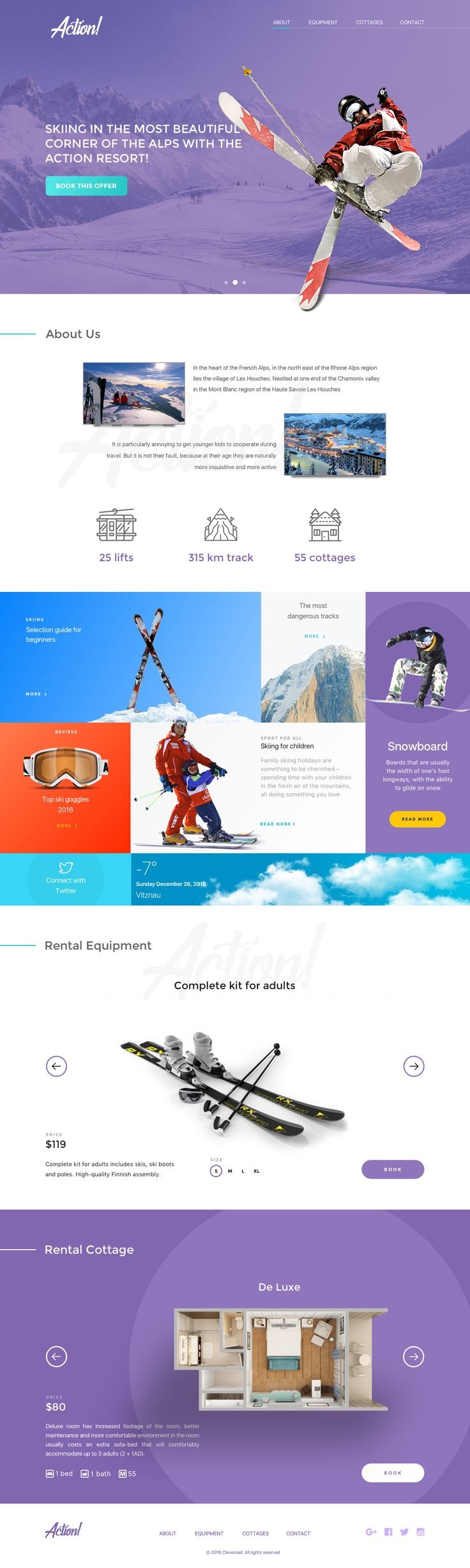 Ski Website Design