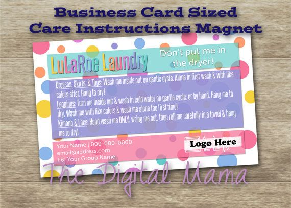 THANK YOU FOR YOUR INTEREST IN MY LISTING!!! :o) I greatly appreciate your business & support!  *** This is a customized order for a digital file of a Care Instructions Card/Magnet for a direct sales company. It can be customized to fit any business! Please note: no physical product will be sent - you will only receive a digital file. ***  . . . . . . . . . . . . . . . . . . . . . . . . . . . . . . . . . . . . . .  The final draft shared with you will be a 3.52x2.05 JPEG image for you to…