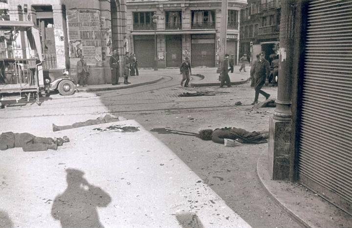Cadáveres en la Red de San Luis de Madrid.