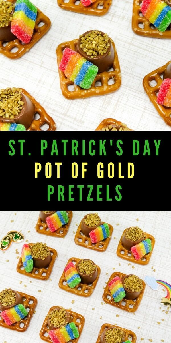 Are you looking for a fun St. Patrick's Day snack that you can make with the kids? These Pot of Gold Pretzels are quick, easy, and so much fun!