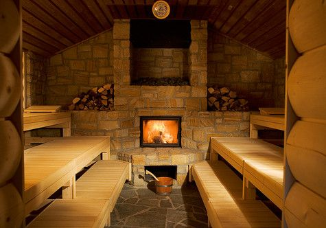 Nice sauna: it looks so cozy & comfy