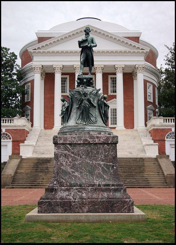 Statue of Thomas Jefferson, University of Virginia, Charlottesville, Virginia Copyright: chris Protopapas