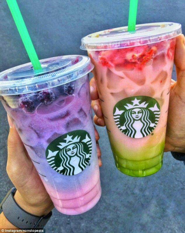 Two Toned Spring Starbucks Drinks Secret Menu
