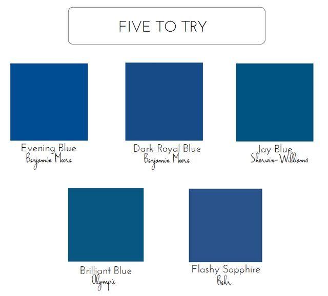 Royal Blue Paint Colors Bold Front Door Colors Blue Front