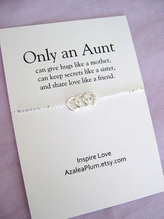 AUNT Necklace Gift For Aunt Birthday Sterling