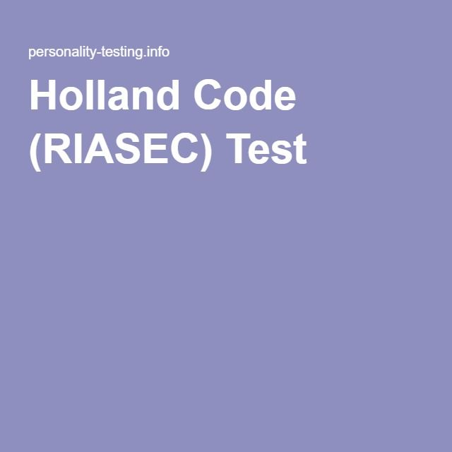 holland personality test free