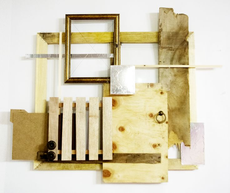 composition, wood, collage, mixed media _2015 by su jin kim