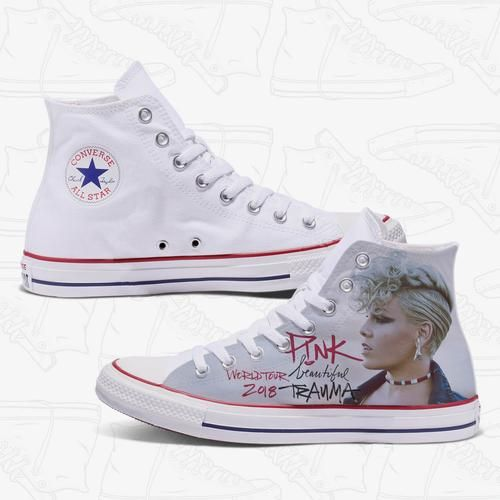 ecb85589 Pink Beautiful Trauma Custom Converse Shoes, Custom Shoes, Just Like Fire,  Pink Official