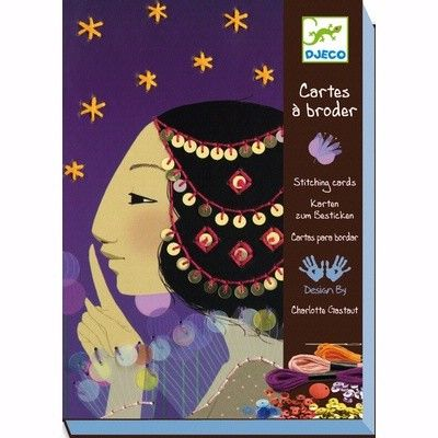 Djeco - 1001 Nights Stitch Cards  Oh my gosh I love these soooo much! My nieces 5,7) would love to give sewing a try with these gorgeous cards that would also serve well as a decoration in their bedrooms. Another must-have by Djeco!  #EntropyWishList  #PinToWin